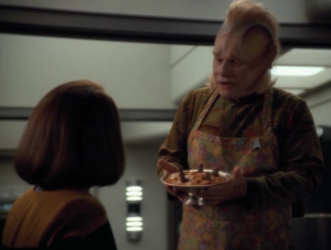 """It's some kind of """"Day of Honor"""" for Klingons, but B'Elanna doesn't want to go through the traditions. Neelix, as morale officer convinces her to give it a shot, which in turn makes her feel way worse. Great job, Neelix"""