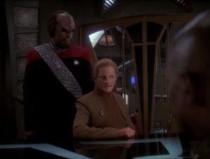 Worf doesn't think Odo is doing a great job because he lets Quark do stuff
