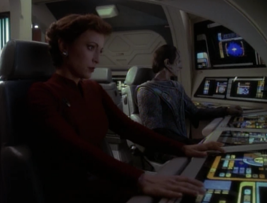 The Cardassians get wind of this and want to send someone along, and of course it's Dukat