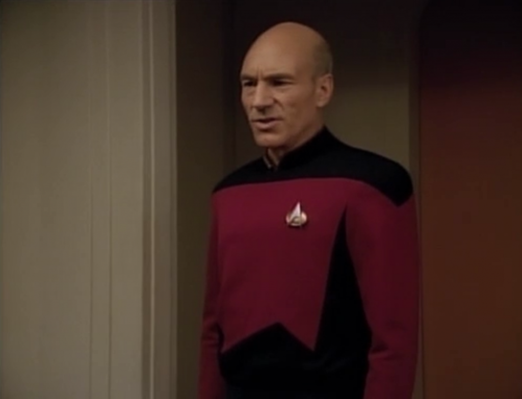 At least we get to see Picard react to annoying things