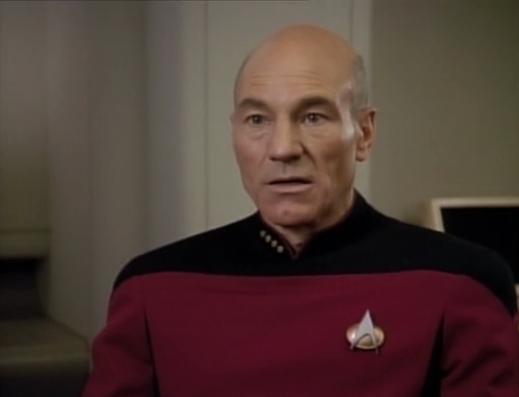 The boy is sexist and won't listen to Troi, so Picard has to deal with him