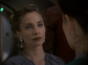 A trill comes aboard DS9 whose former host was married to one of Dax's former hosts