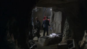 Enterprise checks out the place where Soong raised the augments to see if they can find any clues