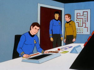 Kirk and Spock suspect something because Bones admits that he can make a mistake