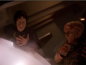Quark teaches this alien the thrill of risk and reward when they have to disarm a torpedo
