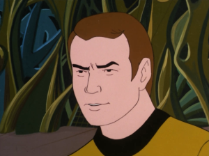 Kirk tries to reason with the giant Spock, reminding him about IDIC and all that stuff