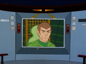 Kirk calls out the Romulans for their scheme to get Enterprise to break the treaty. Kirk says they used a Vendorian, which is against the treaty. That's a very specific treaty.