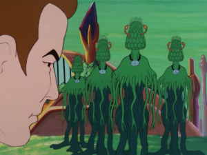 But then some plant aliens show up and cure him