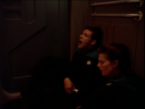 The ship gets worse and worse. Bashir ends up being stuck with Dax