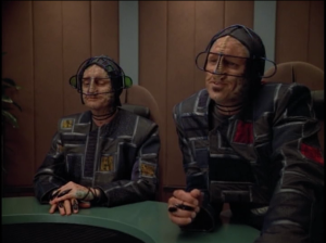 Voyager is also dealing with these dorks. They don't like trespassers in their space