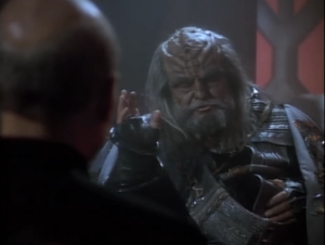 The Klingon chancellor has been poisoned. He wants Picard to mediate the choosing of the next chancellor while figuring out which of the two candidates murdered him