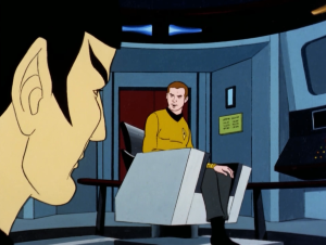 Then he orders Enterprise to enter the neutral zone