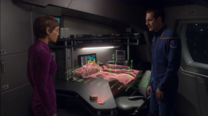 T'Pol finds out her mother is in hiding because she's a Syrrannite, but she sent T'Pol a hint on how to find her