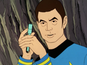 Then they remember that the planet is designed to take care of people who are injured, since last time Bones was injured and they took him underground to help him. So they give Spock a shot of something that knocks him out for a bit. I'm not sure why they think this would work, since the planet is clearly not acting how it's supposed to