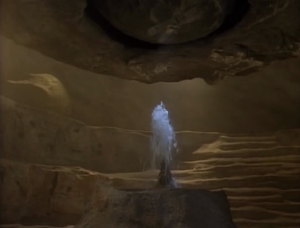 Picard, Weasly and the other guy find there way to a cave and find some water