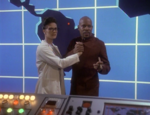 Sisko is the main villain and Dax joined with him willingly
