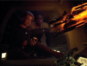 I like that Seven and Tuvok start to really work well together