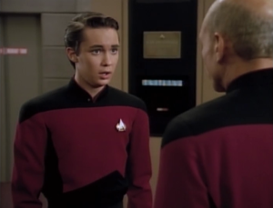 Weasly gets word that he's going to starfleet academy