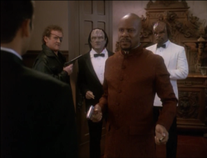 Bashir needs to stall for time, so he joins with Sisko and destroys the world