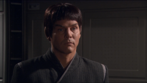 Turns out it was T'Pol's husband that helped get Archer and T'Pau in. He says he'll release T'Pol from the marriage
