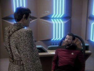 They wanted the location of a secret base. Riker gets skeptical because they could read so much of his mind, but apparently not that information?