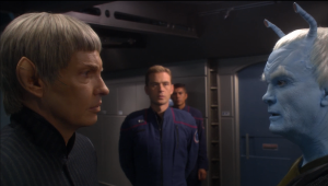 Soval and Trip try to convince Shran that an attack is coming