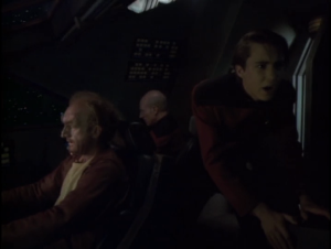 He goes on one last mission with Picard but they have to crash instead