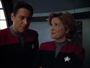 I think there's different hair on Janeway
