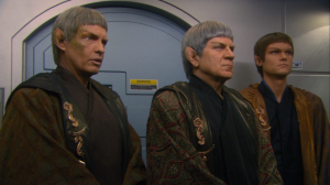 They get word that Forrest died, and the suspects may be a fringe group of Vulcans called the Syrrannites