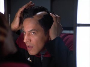 Chakotay discovers he's actually just a wooly willy