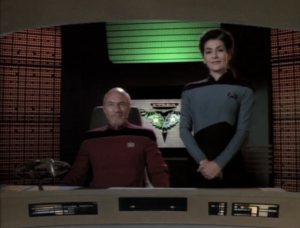 Picard and Troi show up on a Romulan warbird