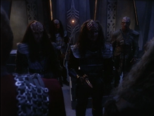 But then that Duras kid shows up and wants the sword. He thinks he can lead the Klingon Empire if he brings it back