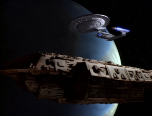 Meanwhile Enterprise has to tow some garbage