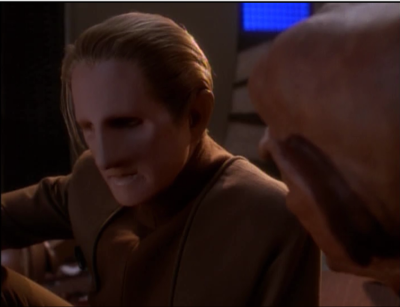 Quark tells Odo that he has to tell Kira how he feels or start to move on so he can do his job. The next day Odo says he can't do the morning briefings with Kira anymore