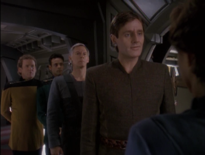 Shakaar shows up to negotiate Bajor being admitted to the federation. There ar rumors of an assassination attempt
