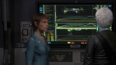"""They figure out that the engery signature was the same for that """"andorian ship"""" and the """"tellarite ship"""" that attacked Shran"""