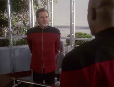 Sisko holds the admiral hostage until the defiant can come with evidence of the conspiracy