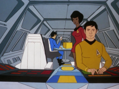 Spock, Sulu and Uhura are bringing back a box that belong to an ancient super powerful race that is now extinct