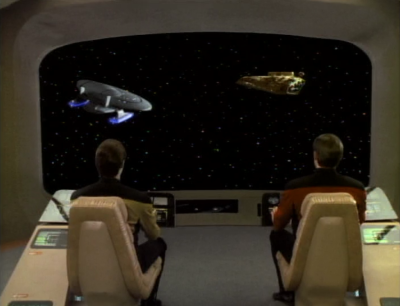 Enterprise tries to escort him back to a starbase but he goes after another cardassian ship. He challenges Picard to board the ship and see what they have