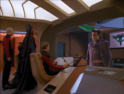 The Vulcan ambassador takes Enterprise on a secret mission to negotiate with the Romulans. I like how we only see Data's perspective of this mission, and we have to figure out whats going on from that