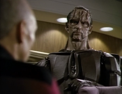 Maxwell surrenders himself and the cardassians thank Picard. Picard says he did what he had to do to maintain the peace, but he knows the cardassians were up to something so they better watch themselves