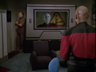 Sisko contacts a guy and wants to talk about red squad, but he asks that those files pointing to red squad be deleted