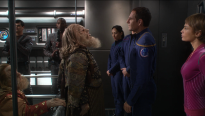 Archer is transporting Tellarites to a conference where they can negotiate with Andorians