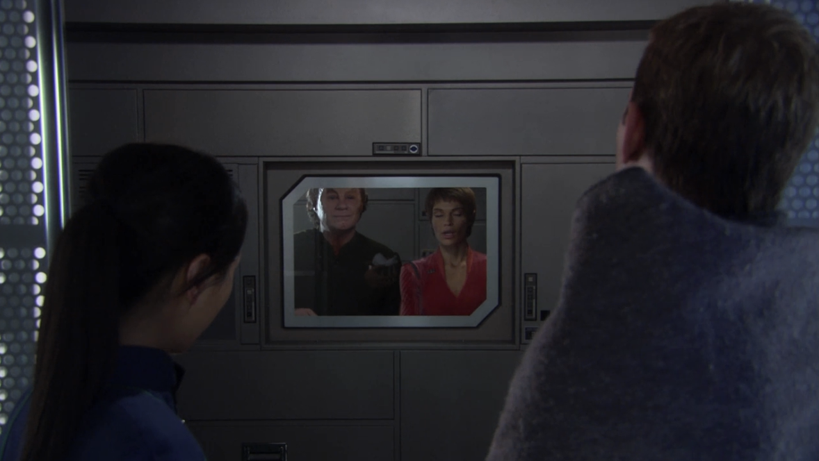 Even though this is supposed to be a test for humans, T'Pol and Phlox do all the hard work