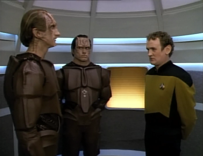 O'Brien isn't too friendly with the cardassians