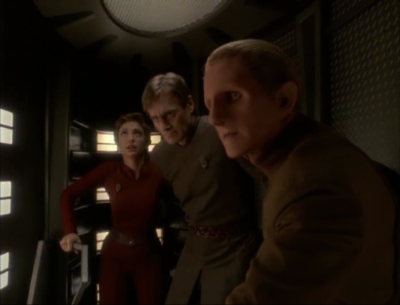 Odo becomes distracted and makes a mistake allowing someone to almost kills them