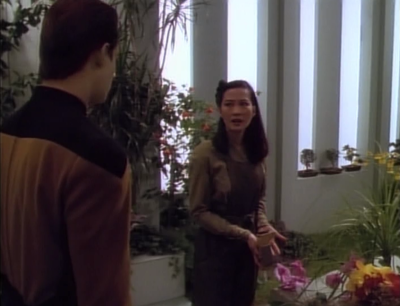 Data tries to make things better between Keiko and O'Brien, but she doesn't want to hear it