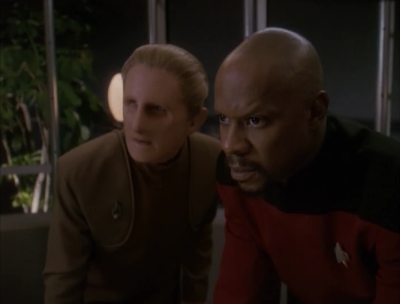 Sisko does some more digging. The admiral is going to seize power soon