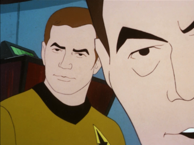 The Animated Series has the closest close-ups of faces for standard dialogue
