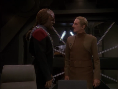 Meanwhile Worf catches the person attempting to kill Shakaar